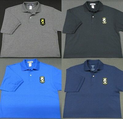 Illinois State Police Patch Polo Shirt - MED to 3XL - 4 Colors - NEW