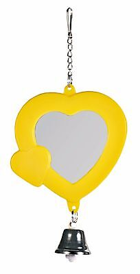Heart Shaped Bird Mirror with Bell Trixie Bird Cage Canary or Budgie Toy 7cm