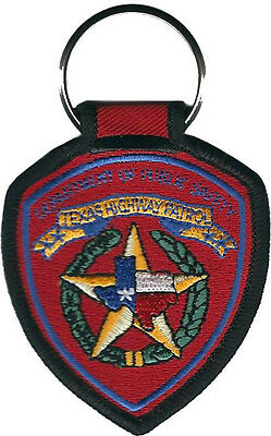 "Texas Highway Patrol Patch Key Chain - 3 3/8"" tall by 2 1/8"" wide - NEW"