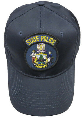 Maine State Police Patch Snap Back Ball Cap / Hat - NAVY - OSFA - New