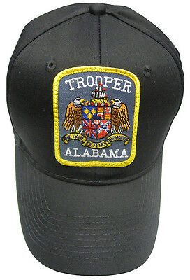 Alabama Trooper Patch Snap Back Ball Cap / Hat - BLACK - OSFA - New