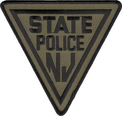 "New Jersey State Police Green Shoulder Patch - 5"" tall by 4 3/4"" wide - NEW"