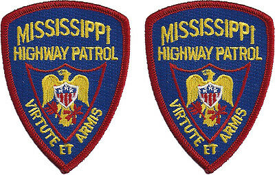 "Hat Size Mississippi Highway Patrol - Pair - 3""T by 2 1/4""W - NEW"