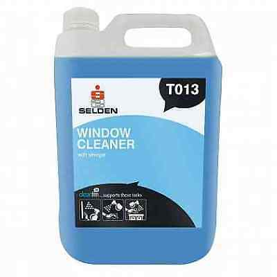 Selden T013 Window Cleaner With Vinegar - 5 Litres - FREE 48 HOUR DELIVERY