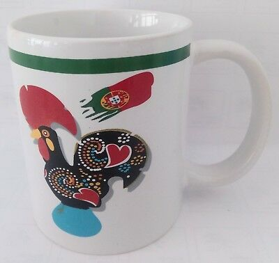 2 Traditional Portuguese Cup Rooster Galo de Barcelos - 2 Cups traditional - New