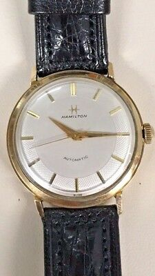 Hamilton Vintage 10k Gold Filled Automatic Watch With Cream Dial