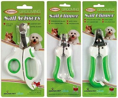 Dog Cat & Small Animal Claw Clippers Pet Grooming Nail Scissors in 3 Sizes