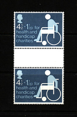 1975 GB Health and Handicap Fund,  NH Mint Gutter Pair, SG 970