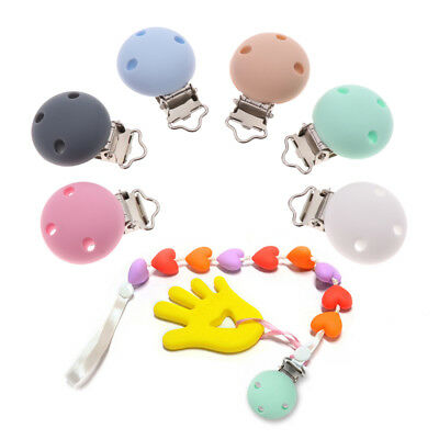 Wooden Baby infant Pacifier Holder Clip Infant Cute Round Nipple Clasps