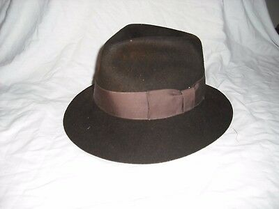24d0430e 8fa89 cd297; low cost vintage authentic licensed 1984 indiana jones lucas  film brown wool stetson hat 38.47 picclick