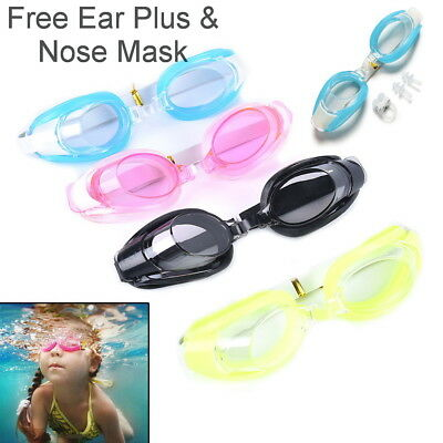 Swimming Goggles glasses Men Women Boys Girls Adult Kids w/ Earbud UK