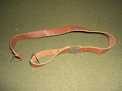 US WWII WW2 M1 helmet liner leather chin strap green buckle