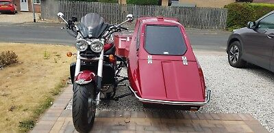 Triumph Rocket 3 111 2006 With Saluki Sidecar Outfit Combination 23k