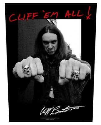 Cliff Burton Aufnäher Cliff Em All Eur 499 Picclick De