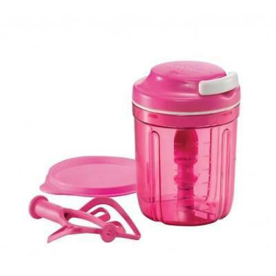 New Tupperware Pink Turbo Chef Smooth Chopper Base Red Whisks Shaft Free Postage