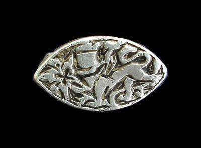 RARE Medieval 14th Century Persia Persian Timurid Sphinx and Lotus Silver Ring