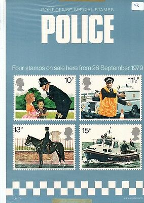 Gb - Royal Mail Posters - A4 - 1979 (03) Police - Minor Faults