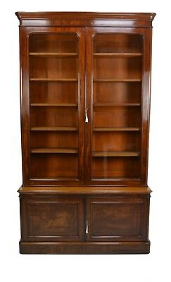Antique / Maple & Co. Large Victorian Mahogany Library Bookcase Circa 1860