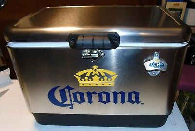 BRAND NEW Corona Stainless Steel Beer Cooler 54 QT with Opener In TV Commercial