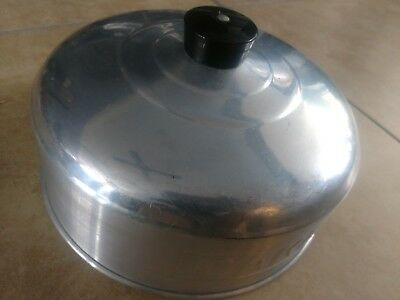 """Vintage Metal Dome Cake Cover 10"""" Round Pastry Pies"""