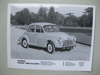 Morris Minor 1098cc press photo Presse Foto no brochure/Prospekt English c1965