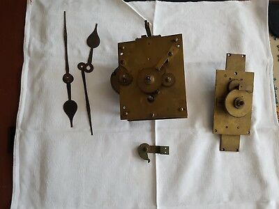 Rare English fusee movement from double sided clock, early 20th-century