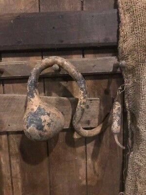 Primitive Dried Gourd Grubby Early Look Cupboard Tuck Homestead Door Keep  #3