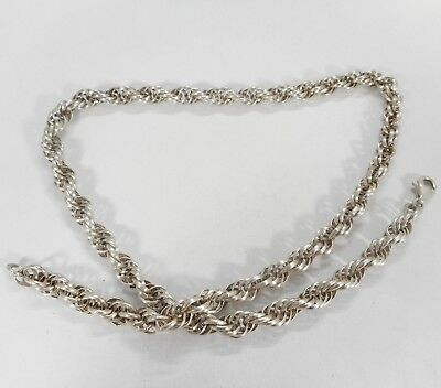 """Vintage 925 Solid Sterling Silver Chain 18 """" Hallmarked 30 grams"""