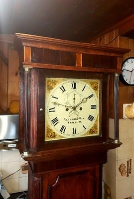 Lovely Georgian Oak & Mahogany Irish Antique Longcase Grandfather Clock C1810