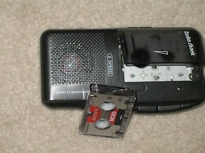 Radio Shack 2 Speed Microcassette Recorder with 1 Tape, Model 14-1148