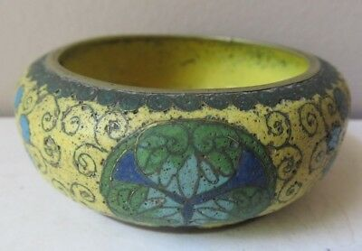 Rare Small Antique CHINESE BRONZE Cloisonne CENSER Bowl Enamel MING DYNASTY ?