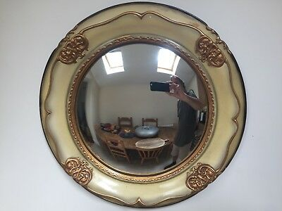 Stunning Ceramic Convex / Fish Eye Wall Mirror