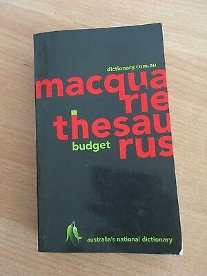 Macquarie thesaurus budget