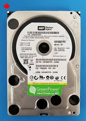 "Western Digital WD RE2 3.5"" SATA 5400RPM 6Gb 5.4K 1TB WD1000FYPS Hard Drive HDD"