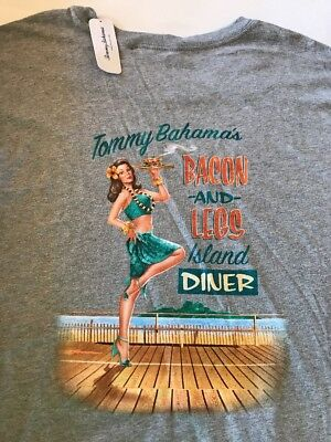 Tommy Bahama /'Room with a Brew/' Mens Gray Heather T-Shirt