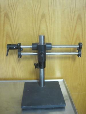 Heavy Duty Bausch & Lomb Microscope StereoZoom Boom Stand w/ Focus Mount Table
