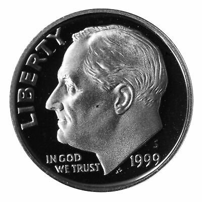 1999 S Roosevelt Dime 10c Gem Deep Cameo Proof 90% Silver Single US Coin
