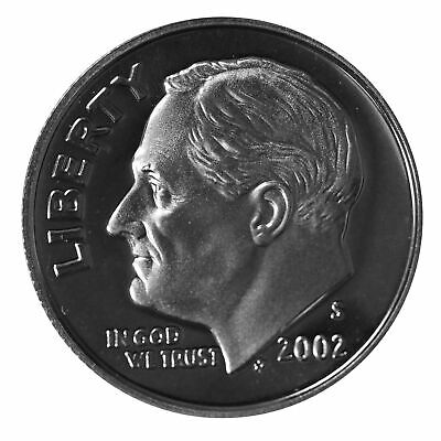 2002 S Roosevelt Dime 10c Gem Deep Cameo Proof 90% Silver Single US Coin