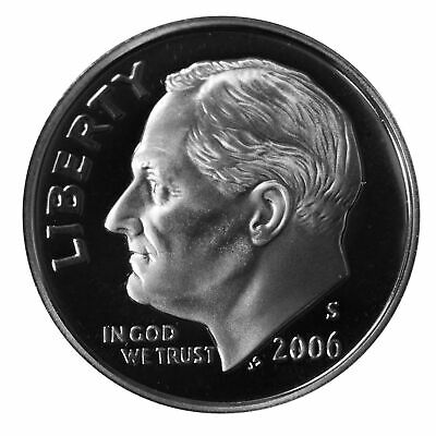 2006 S Roosevelt Dime 10c Gem Deep Cameo Proof 90% Silver Single US Coin