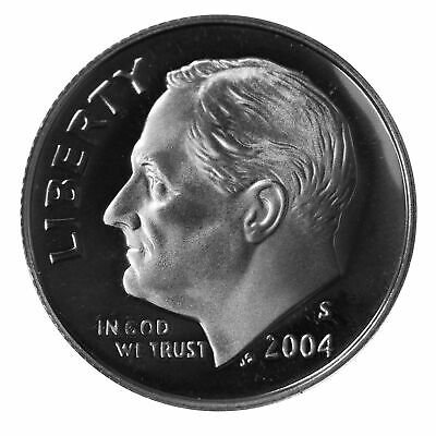 2004 S Roosevelt Dime 10c Gem Deep Cameo Proof 90% Silver Single US Coin