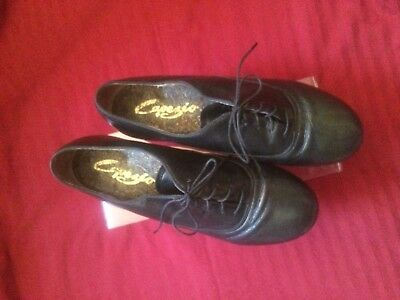 Capezio Black Leather Custom Made Deluxe Tap Shoe - Size 10 Wide