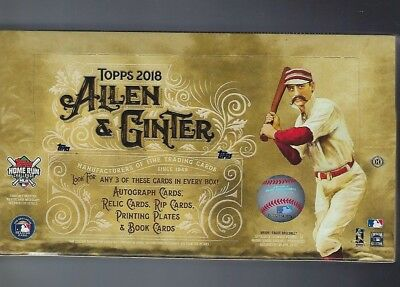 2018 Topps Allen and Ginter Hobby Factory Sealed Box (24 Packs)