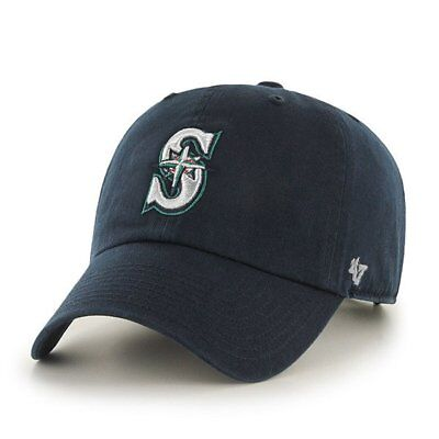 Seattle Mariners  47 Brand Navy Blue Clean Up Adjustable Dad Hat a67b571d89f5