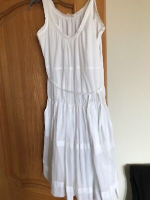 DKNY white cotton summer dresd