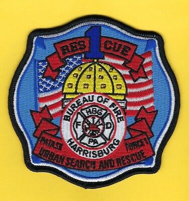 Harrisburg Bureau Of Fire Rescue 1-Usar Company Patch ~ Pennsylvania ~ Awesome