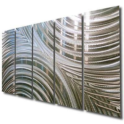 Large Silver Modern Metal Wall Art  Painting - Contemporary Decor by Jon Allen