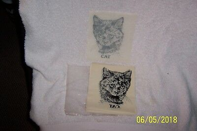 "LOT of 14 Vintage 1983 ANNE I. WOLFF ""Cat"" Hot Iron T-Shirt Transfers/UNUSED"