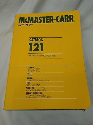 McMaster-Carr #121 Used Catalog, Ships in US free, excellent condition