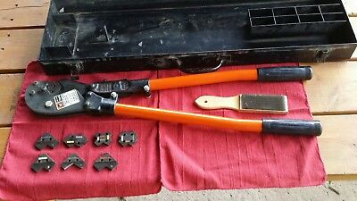 T&b Thomas & Betts Tbm8 Wire Cable Crimper  With Dies