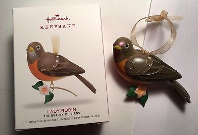 "2018 Hallmark Ornament ""lady Robin"" The Beauty Of Birds - Limited Quantity"